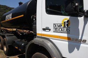 dump truckers sign